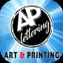 AP Lettering – Lettrage, Impression digitale tous supports, lettrage véhicules, habillage voitures, panneaux immobiliers, enseignes, vitrines, signalisations, lettrage bruxelles belgique AP Lettering Logo